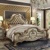Dresden Panel Bed (Gold Patina)