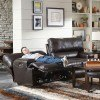 Wembley Power Lay Flat Reclining Sofa w/ Power Headrest and Lumbar (Chocolate)