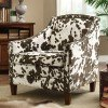 Brown and White Cow Pattern Accent Chair