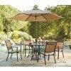 Carmadelia Round Outdoor Dining Set w/ Umbrella
