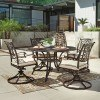 Burnella Round Outdoor Dining Set w/ Swivel Chairs
