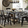 Willow Rectangular Counter Height Table (Distressed Black)
