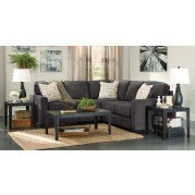 Alenya Charcoal Sectional Set