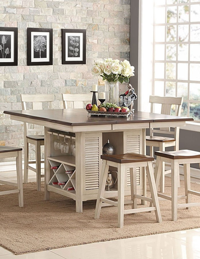 Heather Counter Height Island Table New Classic Furniture