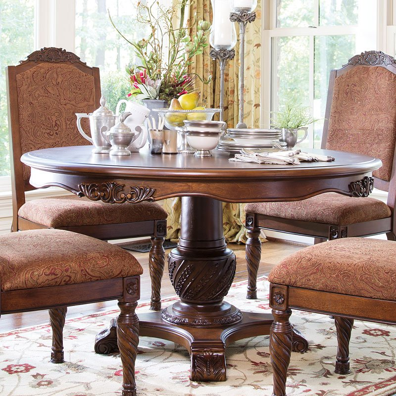 North Shore Dining Room Set: North Shore Round Pedestal Table Millennium, 1 Reviews