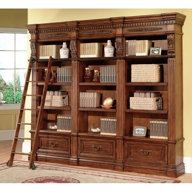 Grand Manor Granada Modular Bookcase Wall