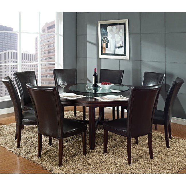 Hartford Round Dining Room Set W 72 Inch Table Steve