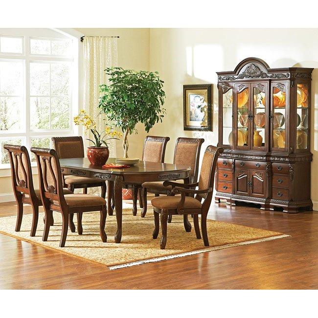 Harmony Dining Room Set Dark Oak Steve Silver Furniture Cart