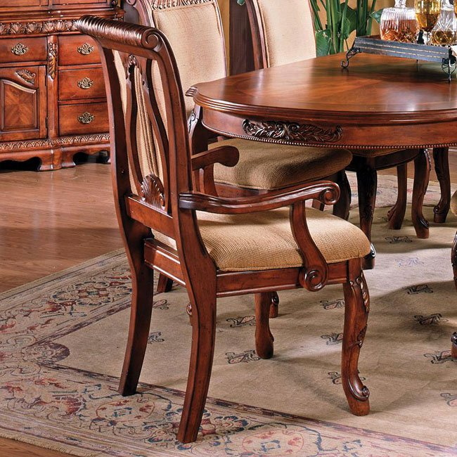 Harmony Furniture: Harmony Dining Room Set (Cherry) Steve Silver Furniture