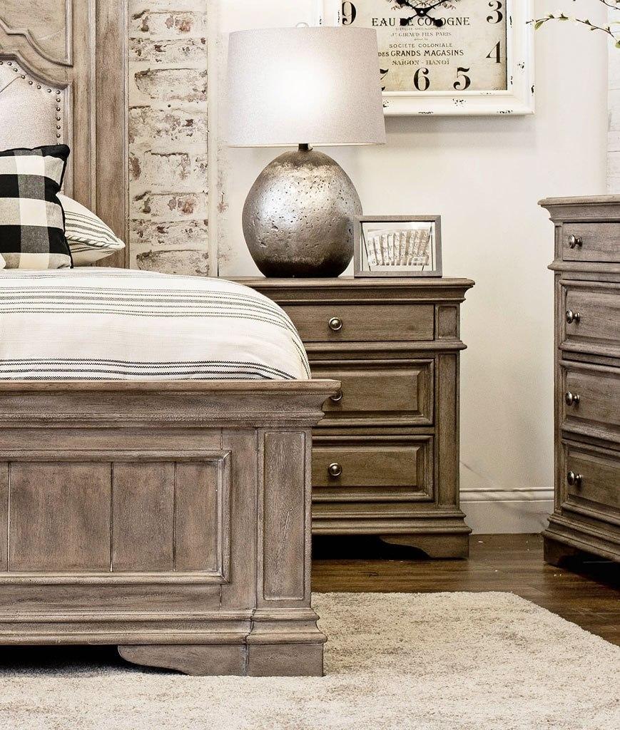 Highland Park Nightstand Waxed Driftwood Steve Silver Furniture Furniture Cart
