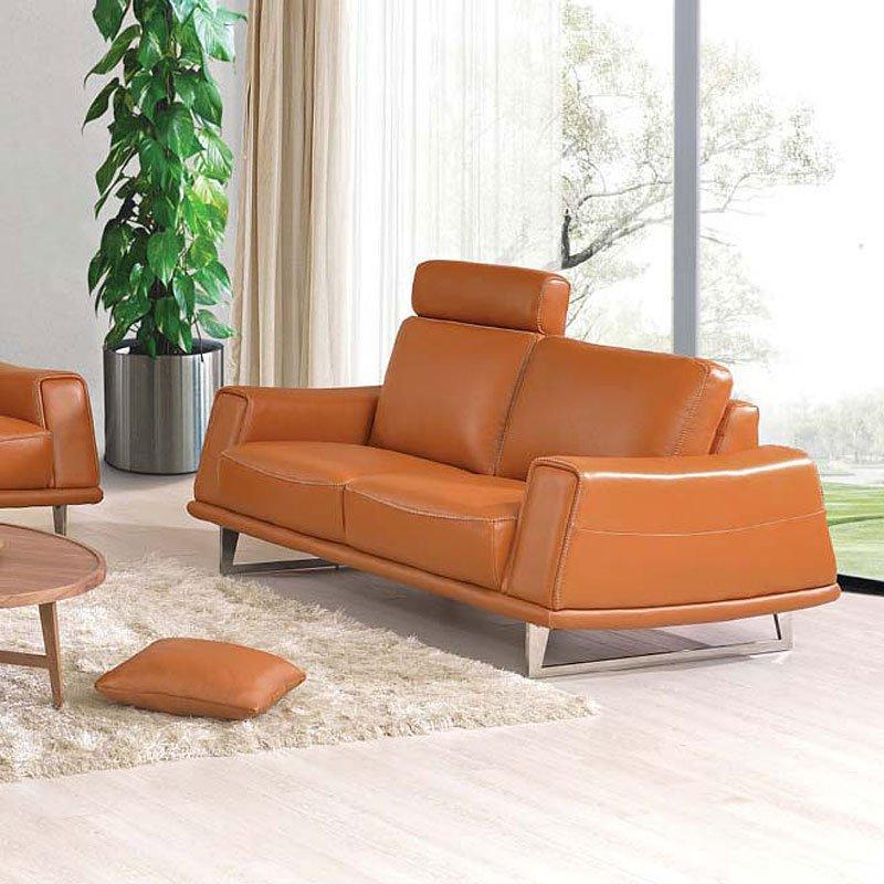531 Orange Leather Living Room Set ESF Furniture