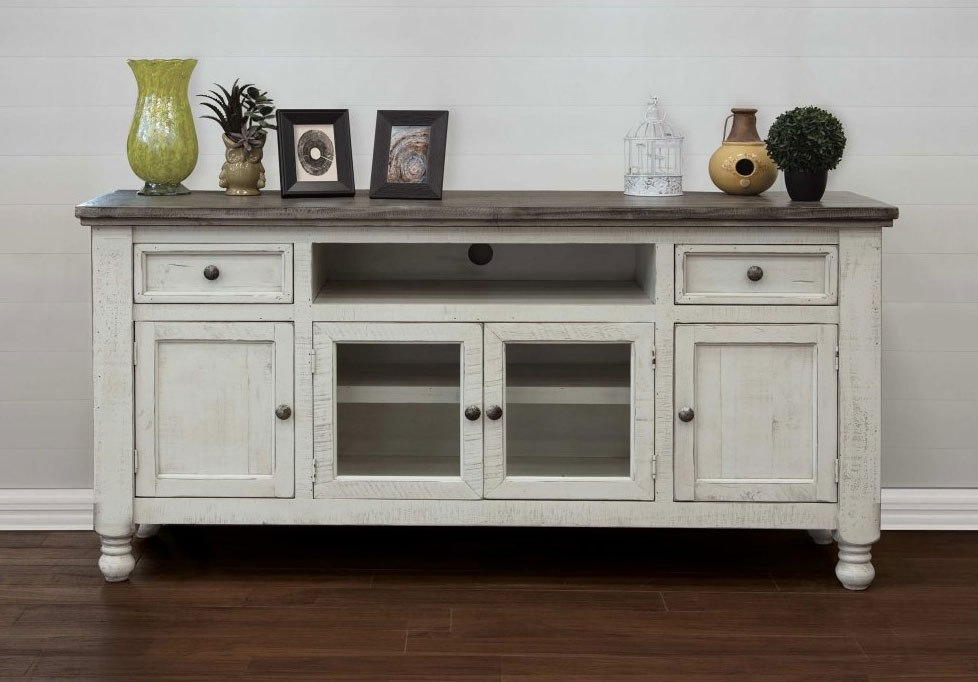 70 Inch Tv Stand Antique White Gray