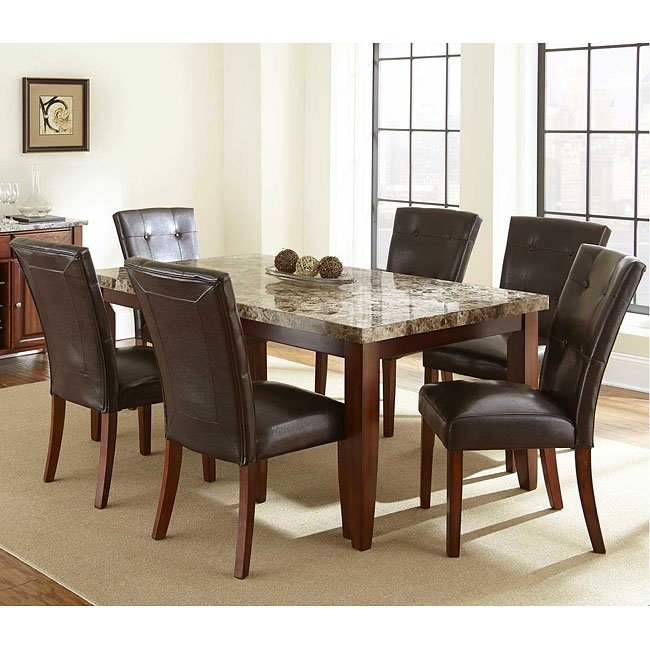 Cheap Formal Dining Room Sets: Montibello Dining Room Set W/ 70 Inch Table Steve Silver