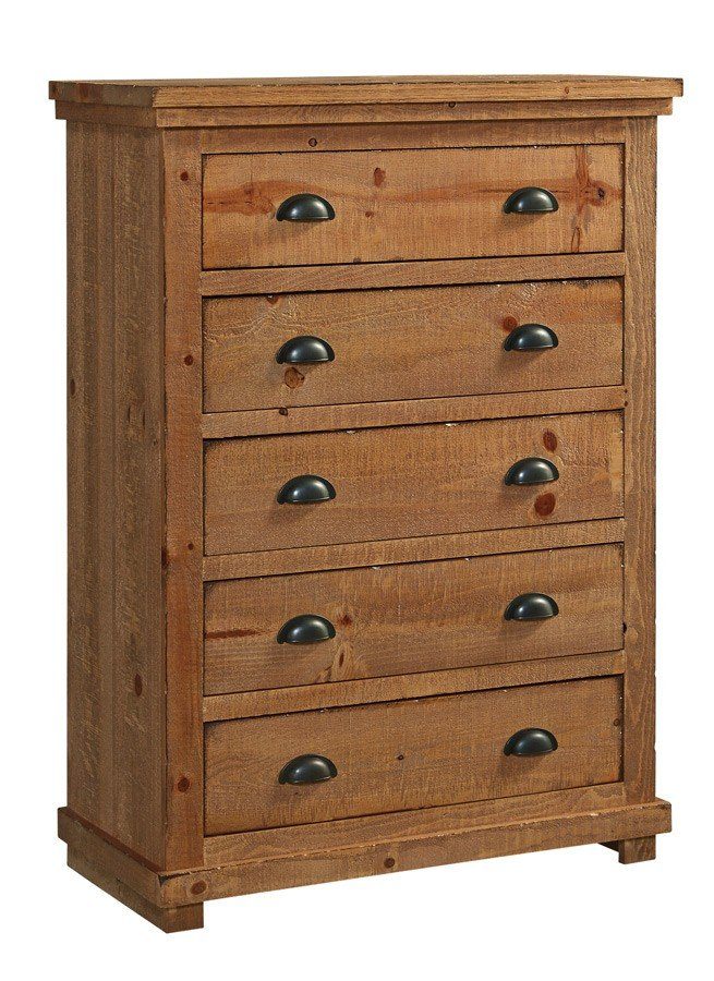 Willow Distressed White Slat Bedroom Set: Willow Chest (Distressed Pine) Progressive Furniture, 4