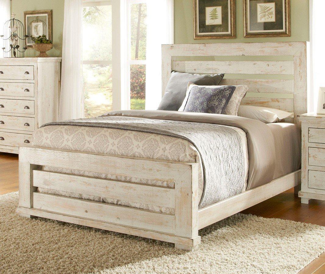 Willow Slat Bedroom Set Distressed
