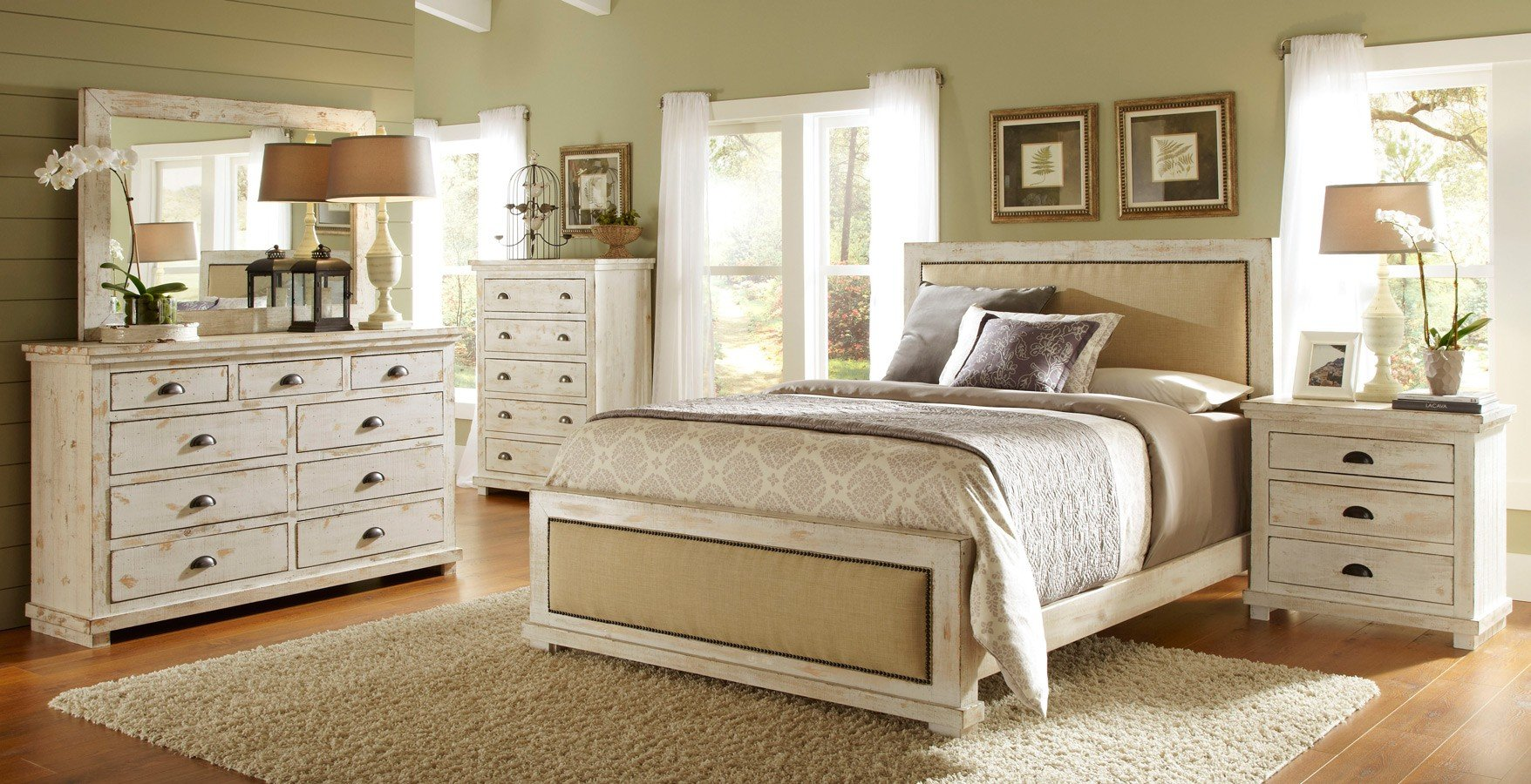 Great Upholstered Bedroom Set Minimalist