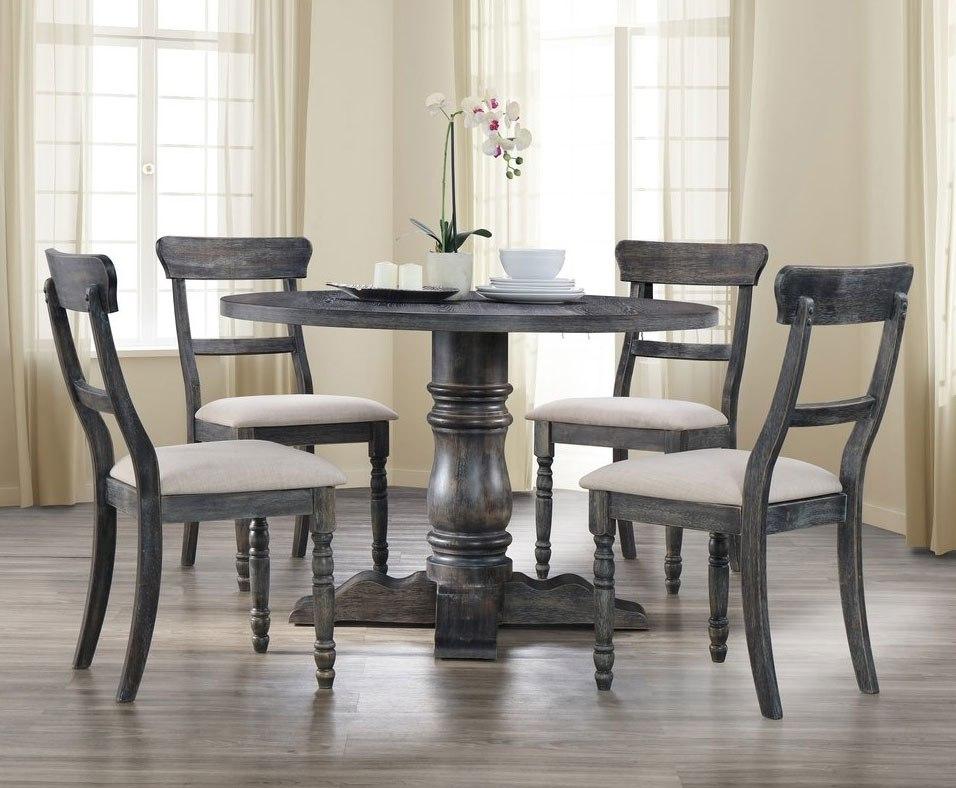 Muses Round Dining Room Set W/ Ladderback Chairs Progressive ...