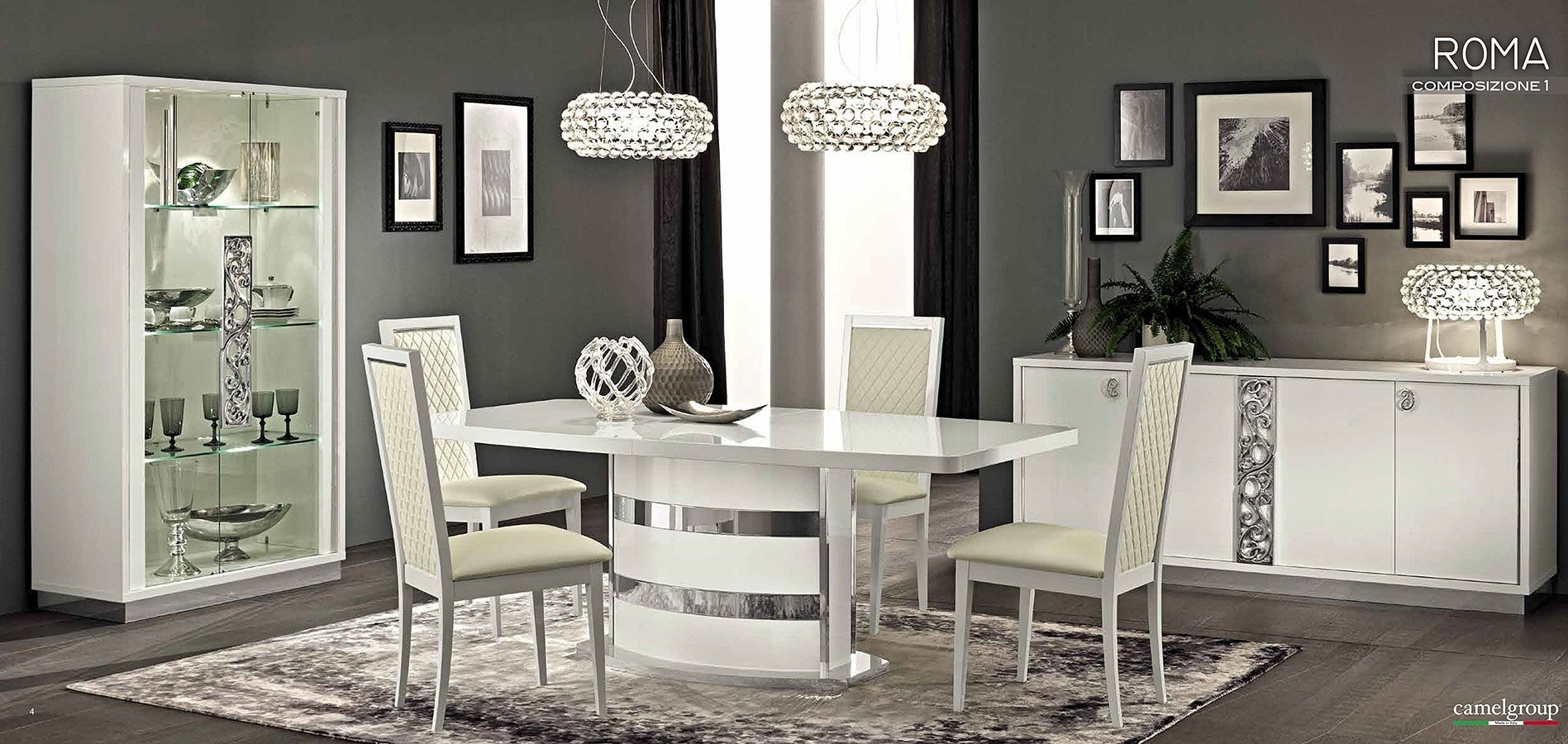 Miraculous Roma Dining Room Set White Download Free Architecture Designs Grimeyleaguecom