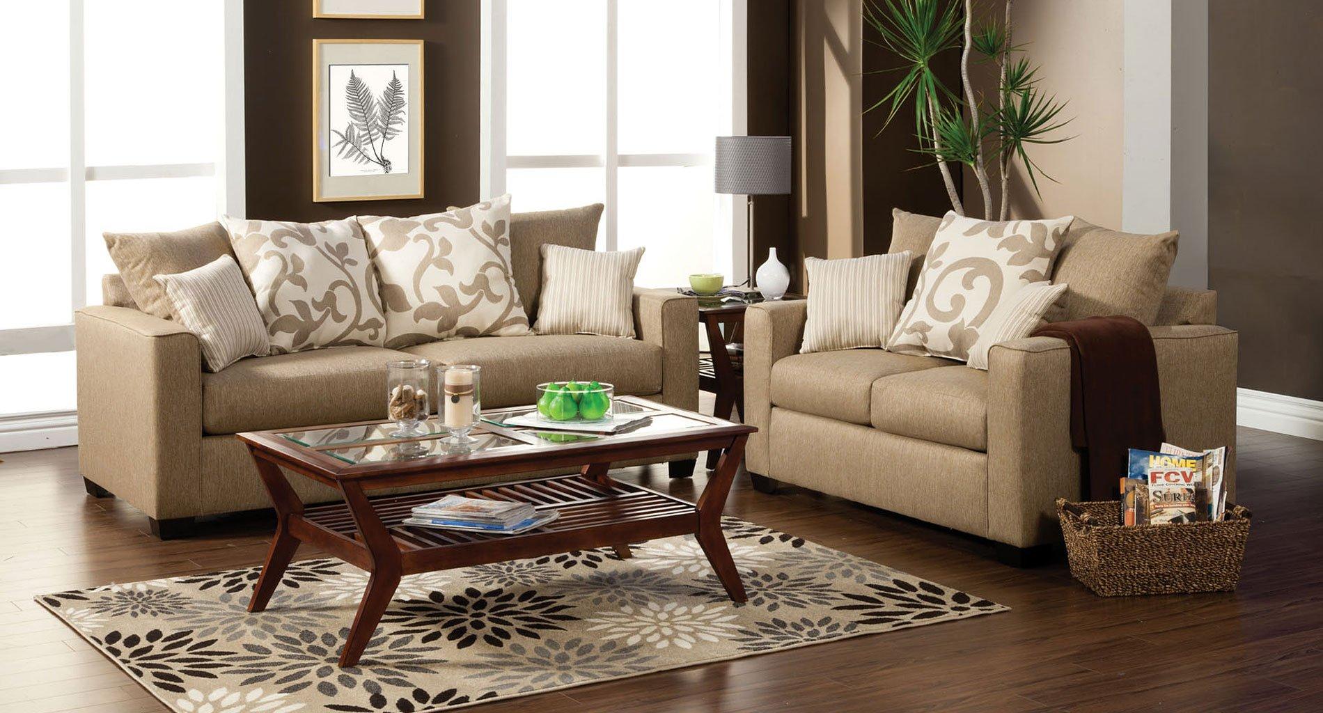 Colebrook Living Room Set Beige Furniture Of America