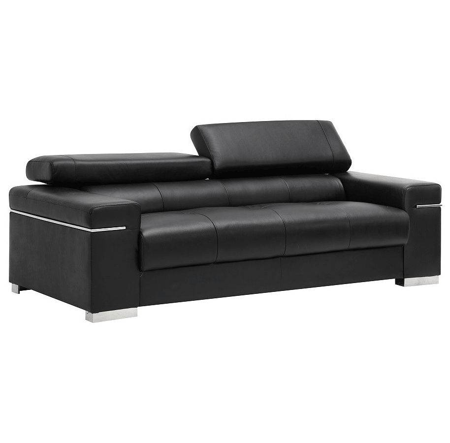 Soho Italian Leather Sofa (Black)
