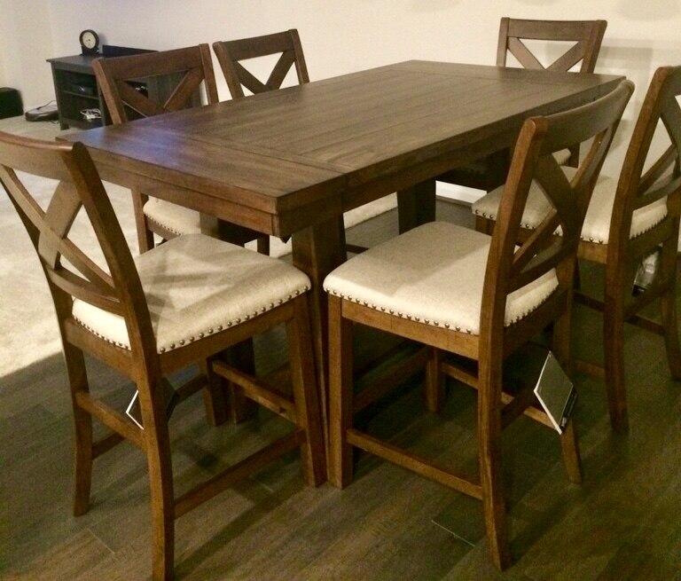 Outstanding Moriville Counter Height Dining Room Set Ncnpc Chair Design For Home Ncnpcorg