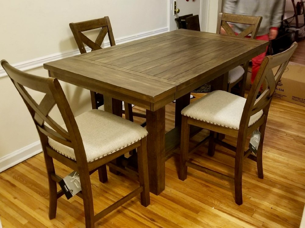 Moriville Counter Height Dining Room Set Signature Design