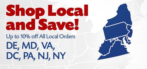 Local Discount applies in DE, MD, NJ, NY